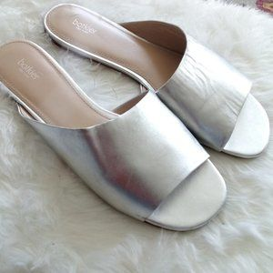 Botkier Silver Leather Slides